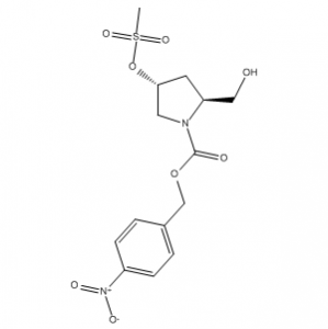 1-Pyrrolidinecarboxylic acid, 2-(hydroxymethyl)-4-[(methylsulfonyl)oxy]-, (4-nitrophenyl)methyl ester, (2S,4R)-